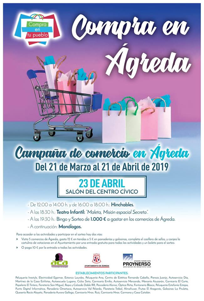Apoyo comercio local de Ágreda 2019